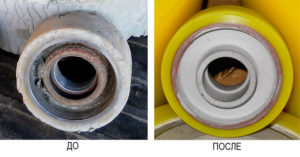 Примеры восстановленных полиуретановых колес