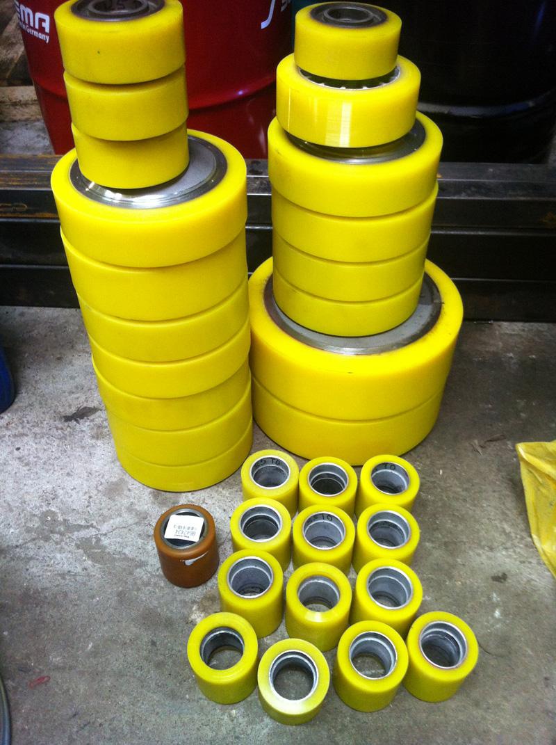 Восстановленное полиуретановое колесо
